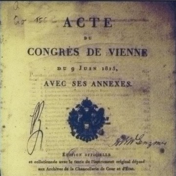 Frontispiece of the Acts of the Congress of Vienna (1815)©                     By JoJan (Own work) [Public domain or CC BY 3.0 (http://creativecommons.org/licenses/by/3.0)], via Wikimedia Commons