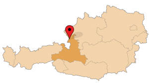 Ligging salzburg in oostenrijk